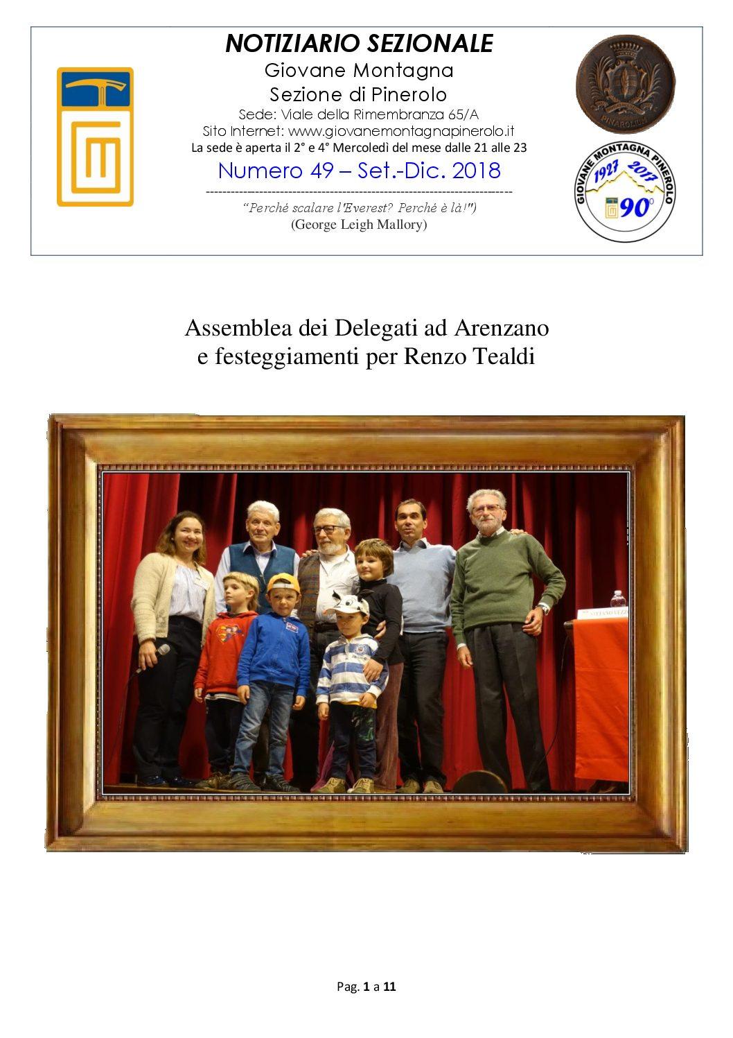 Notiziario n. 49 – Set-Dic 2018