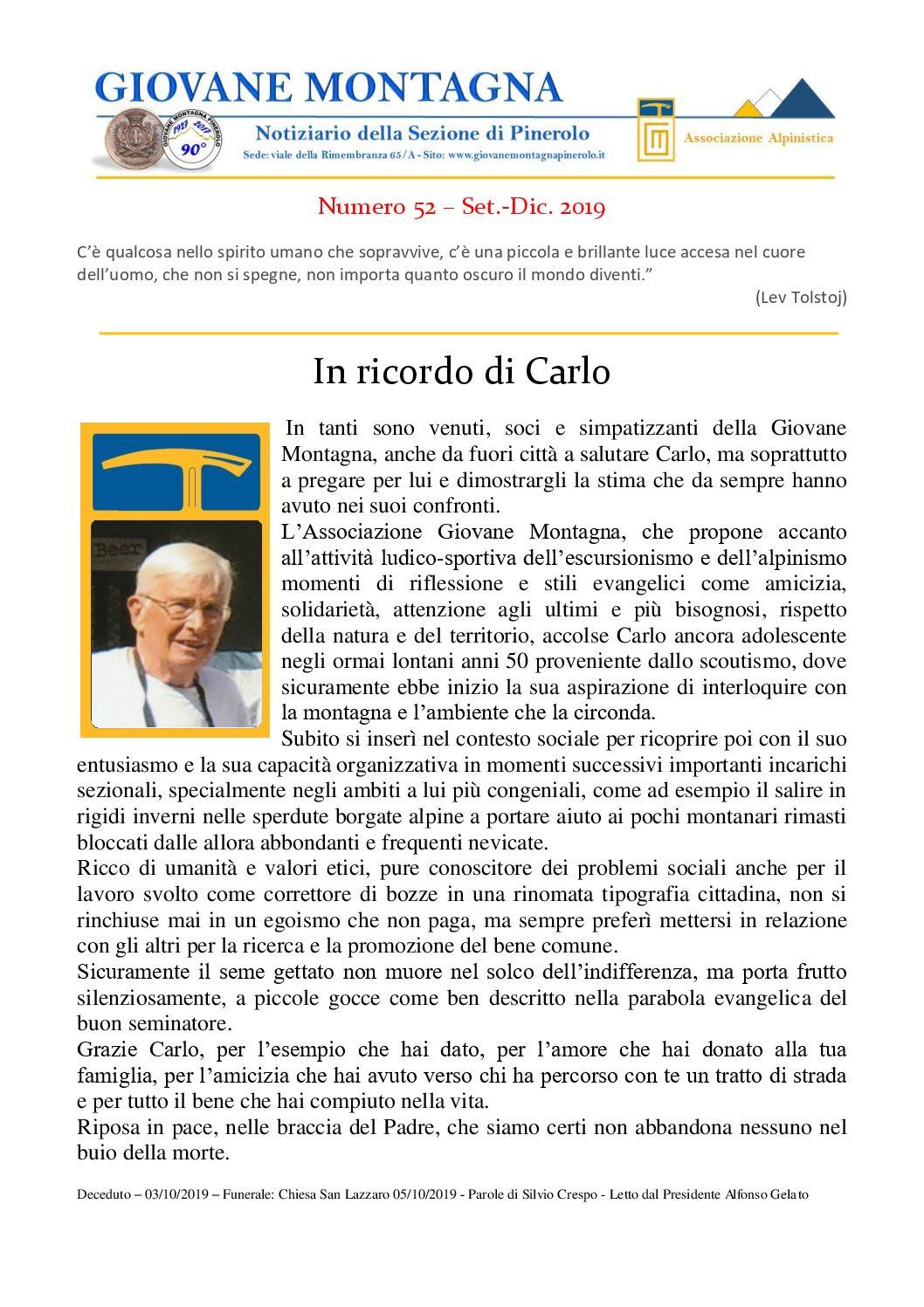 Notiziario n. 52 – Set./Dic. 2019